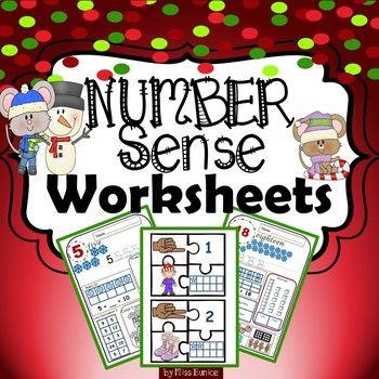 winter themed number sense worksheets cool math stuff number sense worksheets build math. Black Bedroom Furniture Sets. Home Design Ideas
