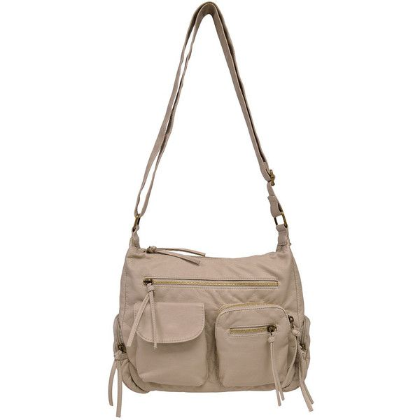 Bueno Pearlized Washed Pocket Hobo Crossbody Bag 49 Liked On