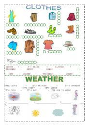 english worksheets clothes weather winter clothes worksheet clothes worksheets. Black Bedroom Furniture Sets. Home Design Ideas