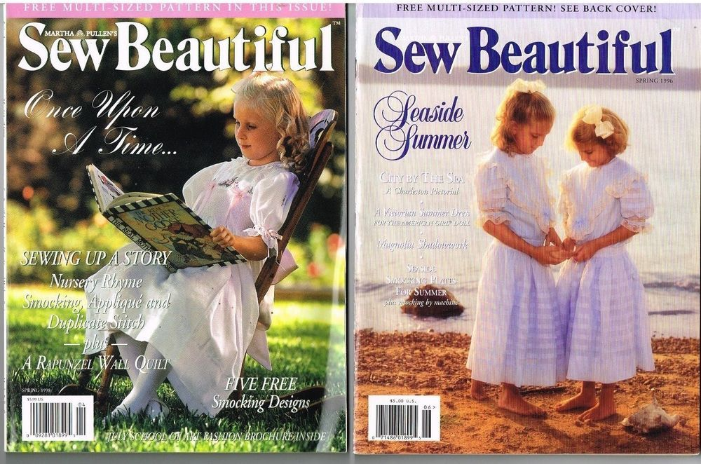 Sew Beautiful Magazine Lot Sewing Magazines Smocking Plates 3 Issues 1990 S Sewing Magazines Smocking Plates Sewing