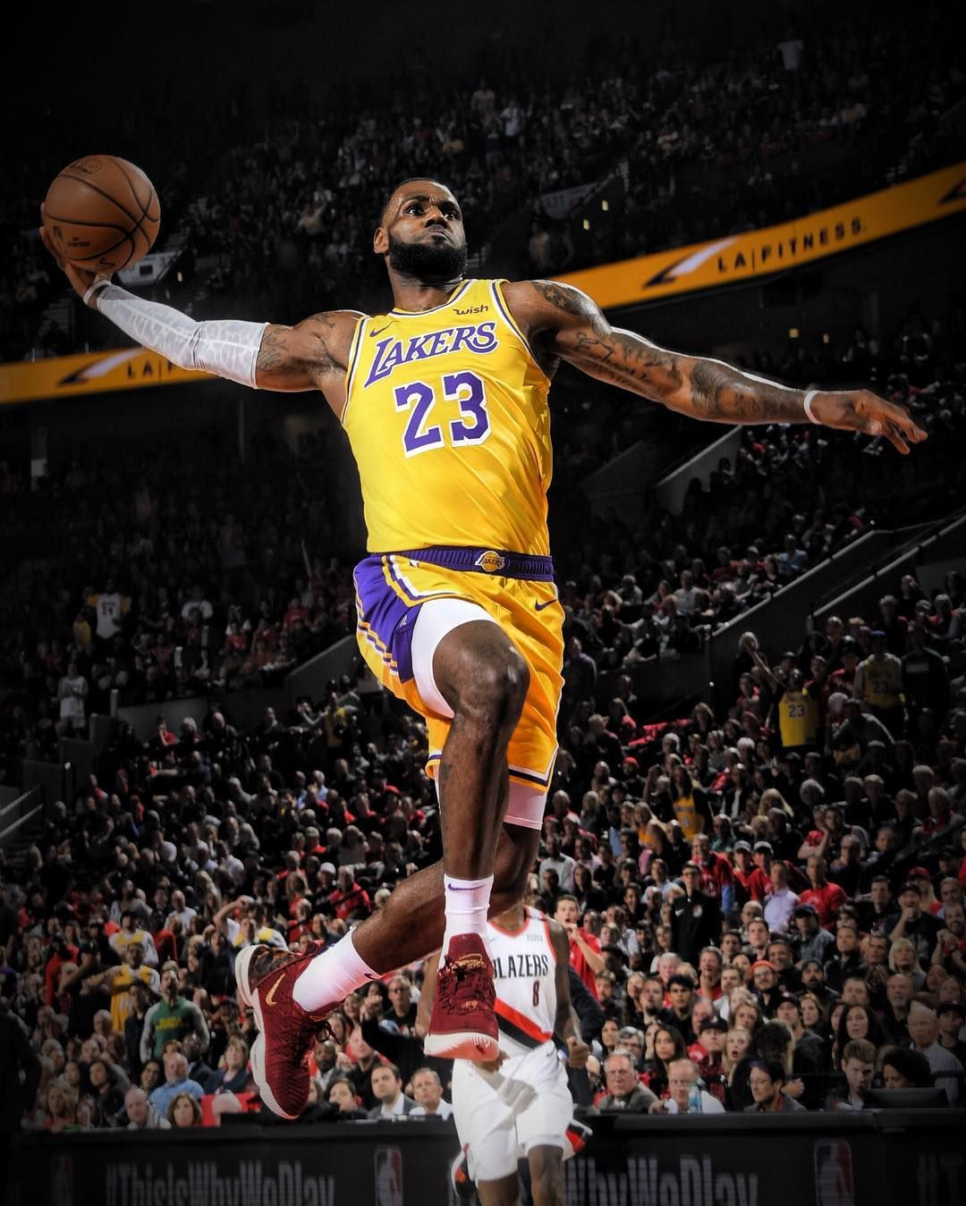 Image May Contain One Or More People People Playing Sports And Crowd Lebron James Lakers Lebron James Wallpapers Lebron James