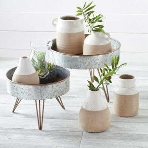 unglaublich Glaze Topped Ceramic Bud Vase Pot, Set of 5 unglaublich  Glaze Topped Ceramic Bud Vase Pot, Set of 5