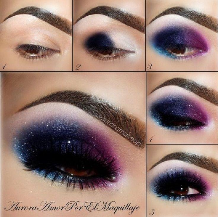 Galaxy inspirierte Eye #makeup