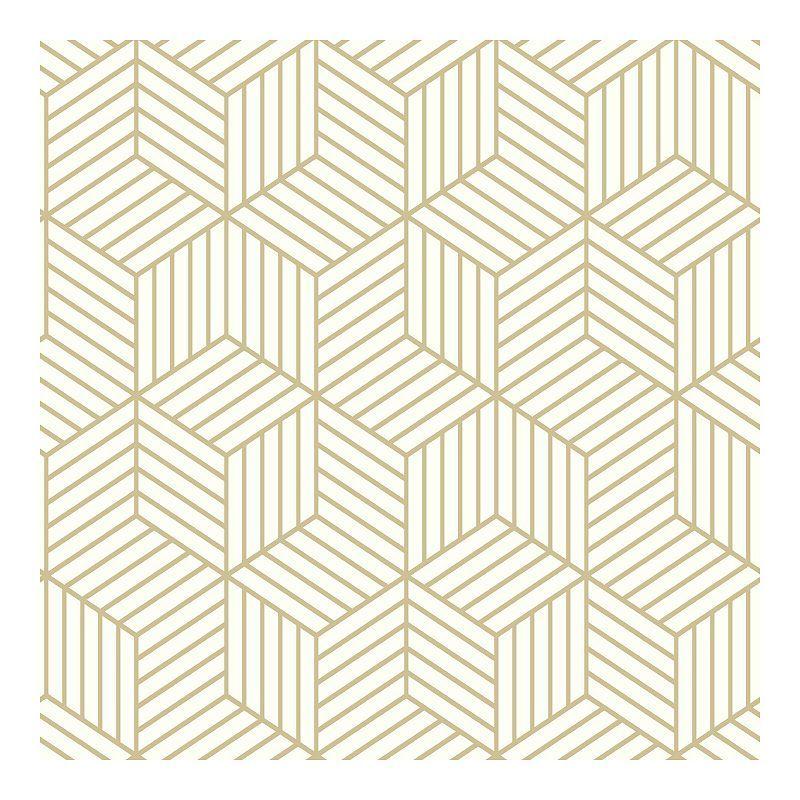 Roommates Striped Hexagon Peel Stick Wallpaper Hexagon Wallpaper Geometric Hexagon Wallpaper Peel And Stick Wallpaper