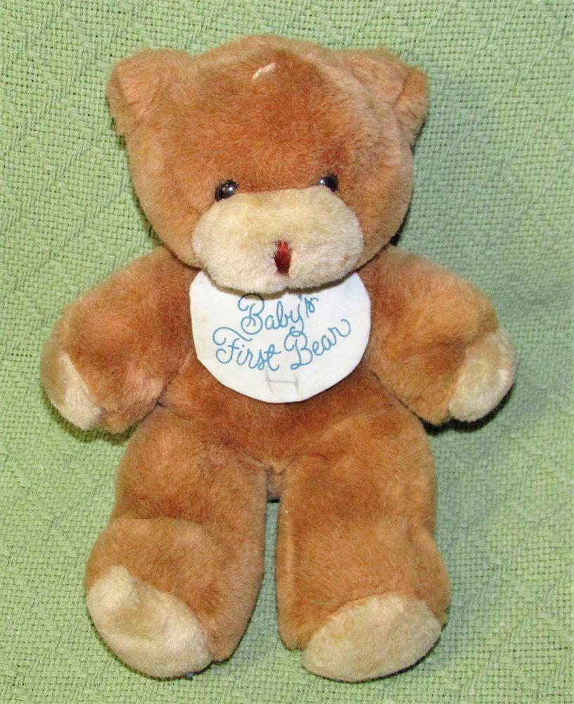 Predownload: Vintage Hallmark Musical Teddy Plush Baby S First Bear 1989 Stuffed Animal Korea Hallmark Baby Plush Teddy Bear [ 1000 x 816 Pixel ]