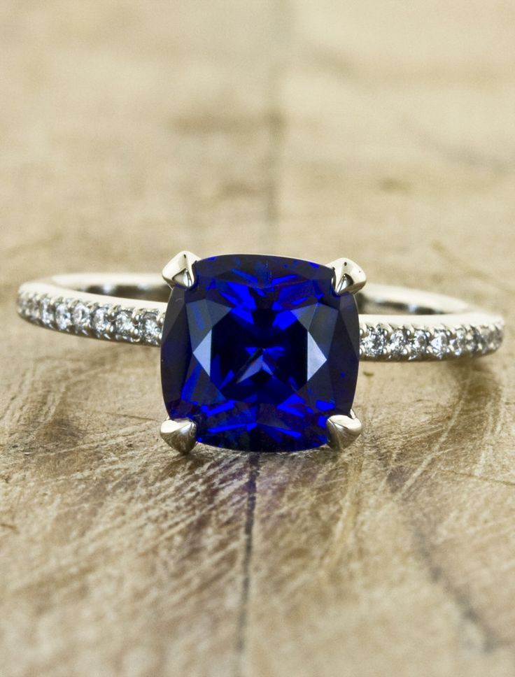 signature centerstone ring collection cushion sapphire color diamond cut