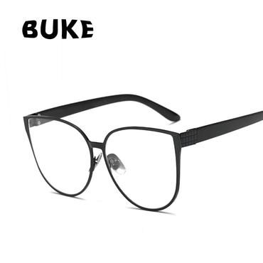 a633d9a5d0f BUKE Cat Eye Eyewear Frames Men Clear Lens Glasses Frame Female Hipster  Vintage Spectacle Frame Big Eyeglasses Women Brand