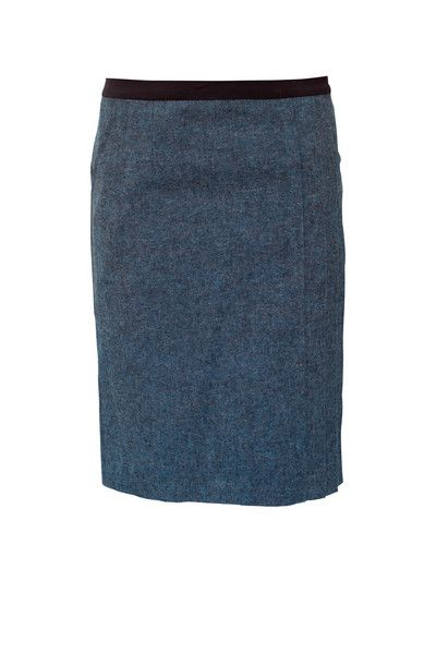 0e00826352 Azure Shores Blue Formal Skirt. A standout skirt with nearly invisible  pleats and an easy pocket on one side.