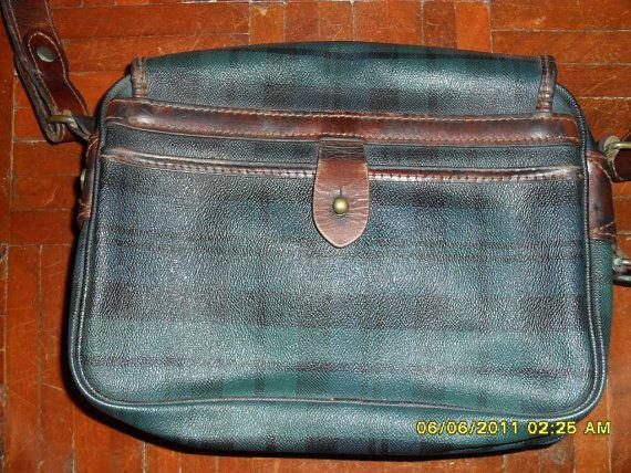 Polo Ralph Lauren 70 39 S Tartan Plaid Blackwatch By Hawaiianduke Leather Messenger Bag Messenger Bag Leather Crossbody Bag