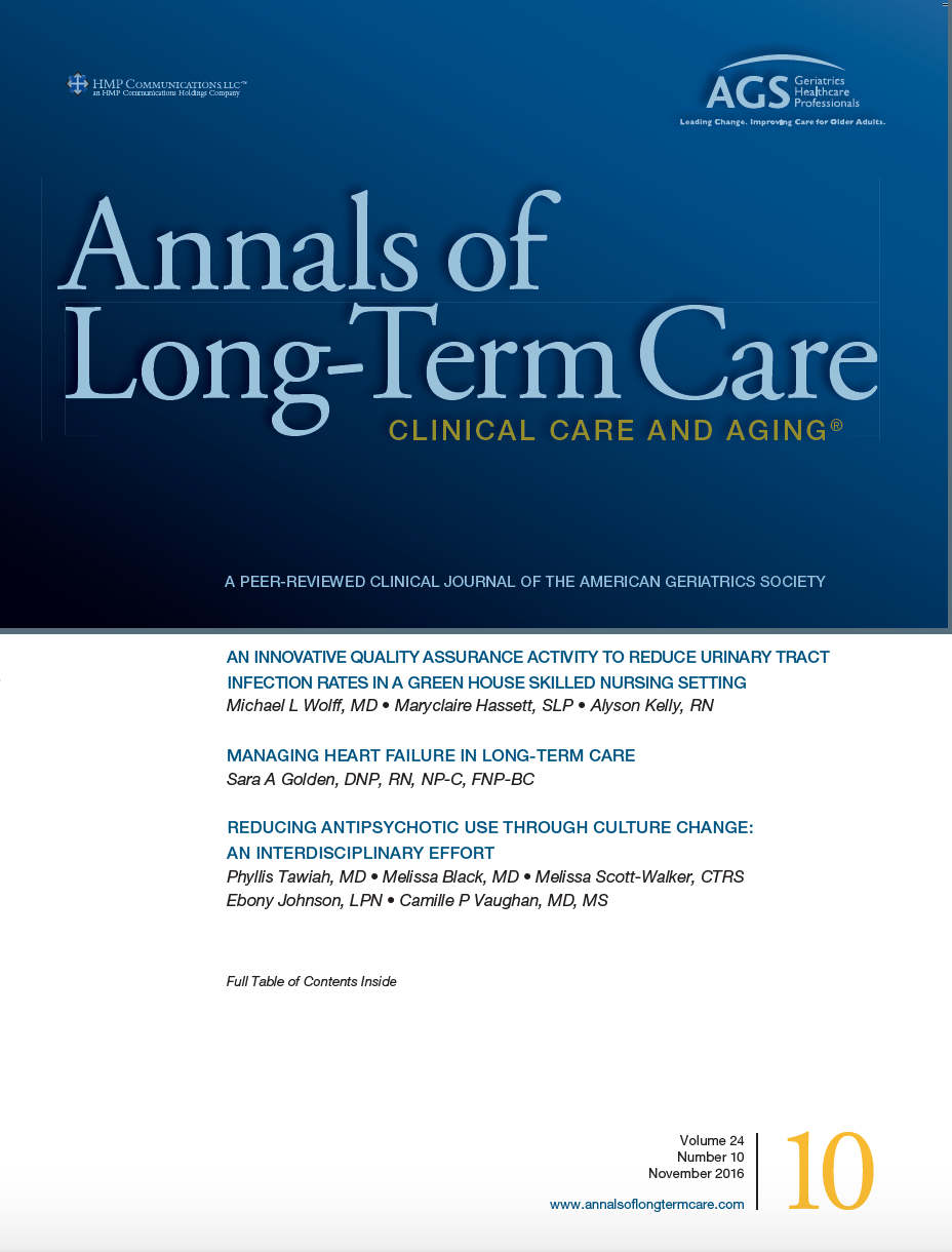 Pin by Annals of LongTerm Care Clin on ALTC 2016 Issues