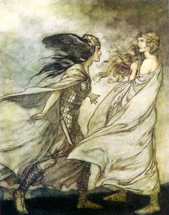 Norse mythology, Arthur Rackham by Rwrenee