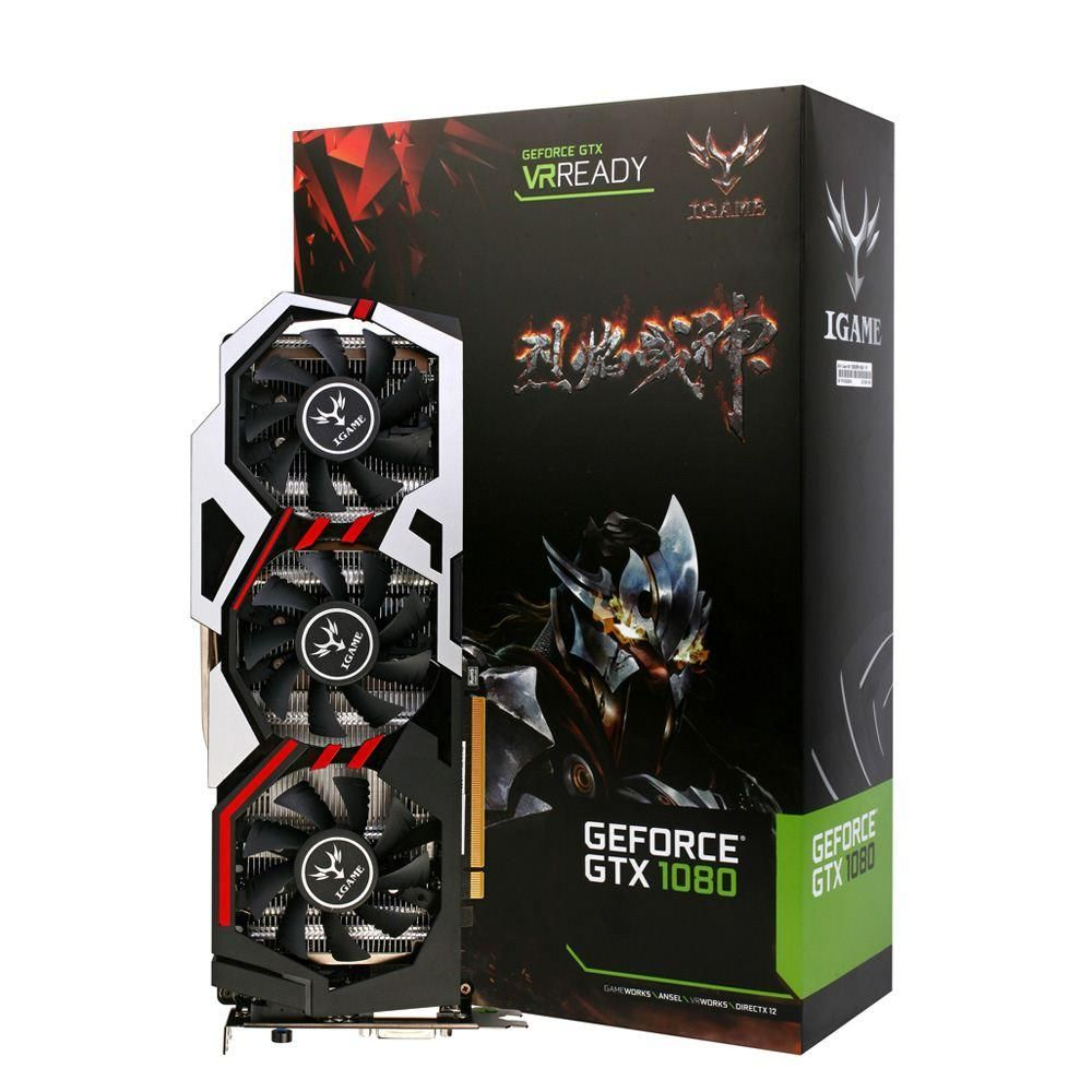 Colorful Nvidia Geforce Gtx Igame 1080 Gpu 8gb 256bit Gaming Gddr5x Deepcool U Pal Usb 30 Notebook Cooler Black Pci E X16