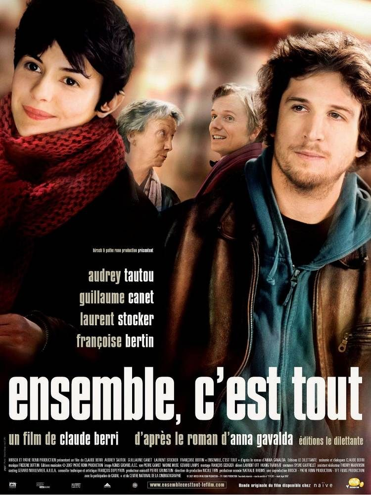 Ensemble, c'est tout I Director: Claude Berri I Stars: Audrey Tautou, Guillaume Canet, Laurent Stocker | Story: When Camille (Audrey Tautou) falls ill, she is forced to live with Philibert and Franck (Guillaume Canet). A moving trio story.
