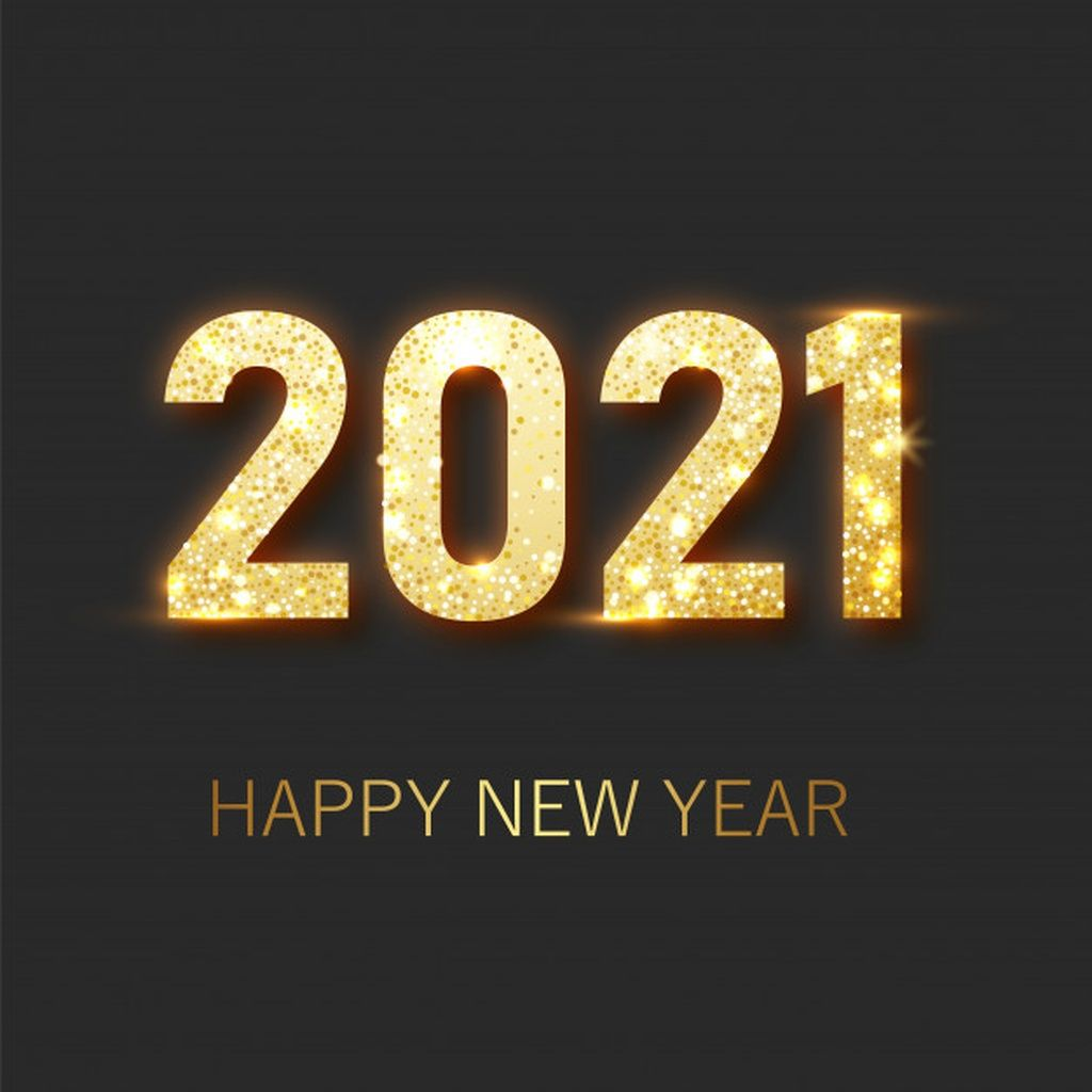 Happy new year 2021 banner.golden luxury text 2021 happy