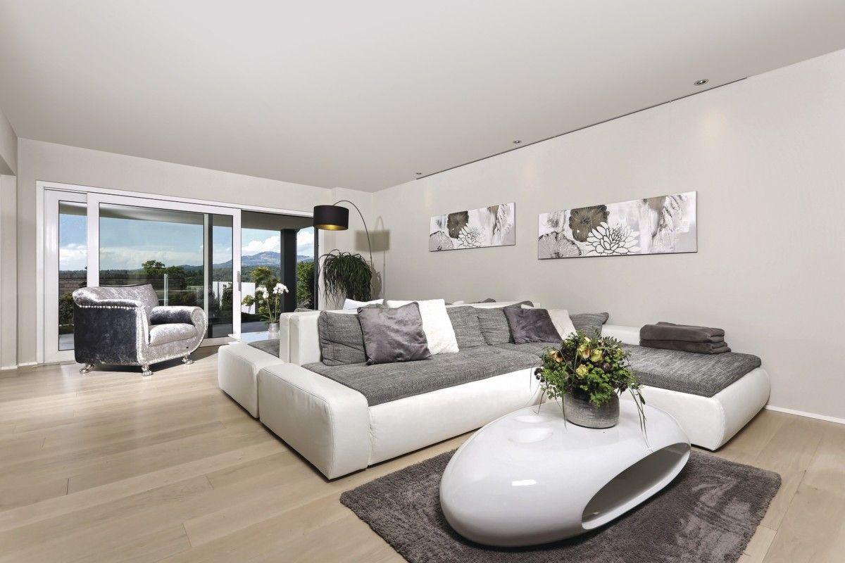 Wohnzimmer Ideen Grau Weiß   Inneneinrichtung WeberHaus Stadtvilla    HausbauDirekt.de