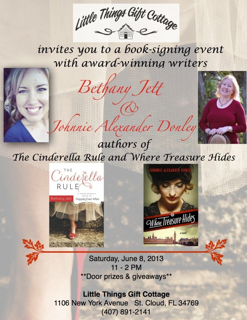 Little things gift cottage flyer book signing event
