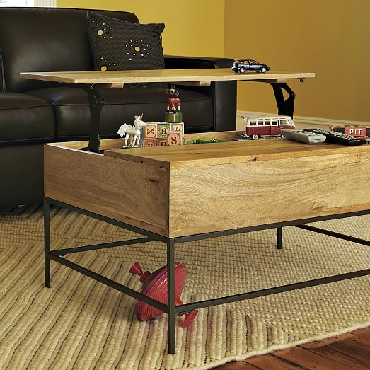 Industrial Storage Pop Up Coffee Table Coffee Table Rustic Coffee Tables Coffee Table With Storage
