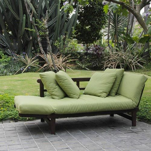 Outdoor Futon Designed Specifically To Be Used Outdoors Converts From A Sofa Lounge Daybed Clic Style Garden Colors Comfortable Design