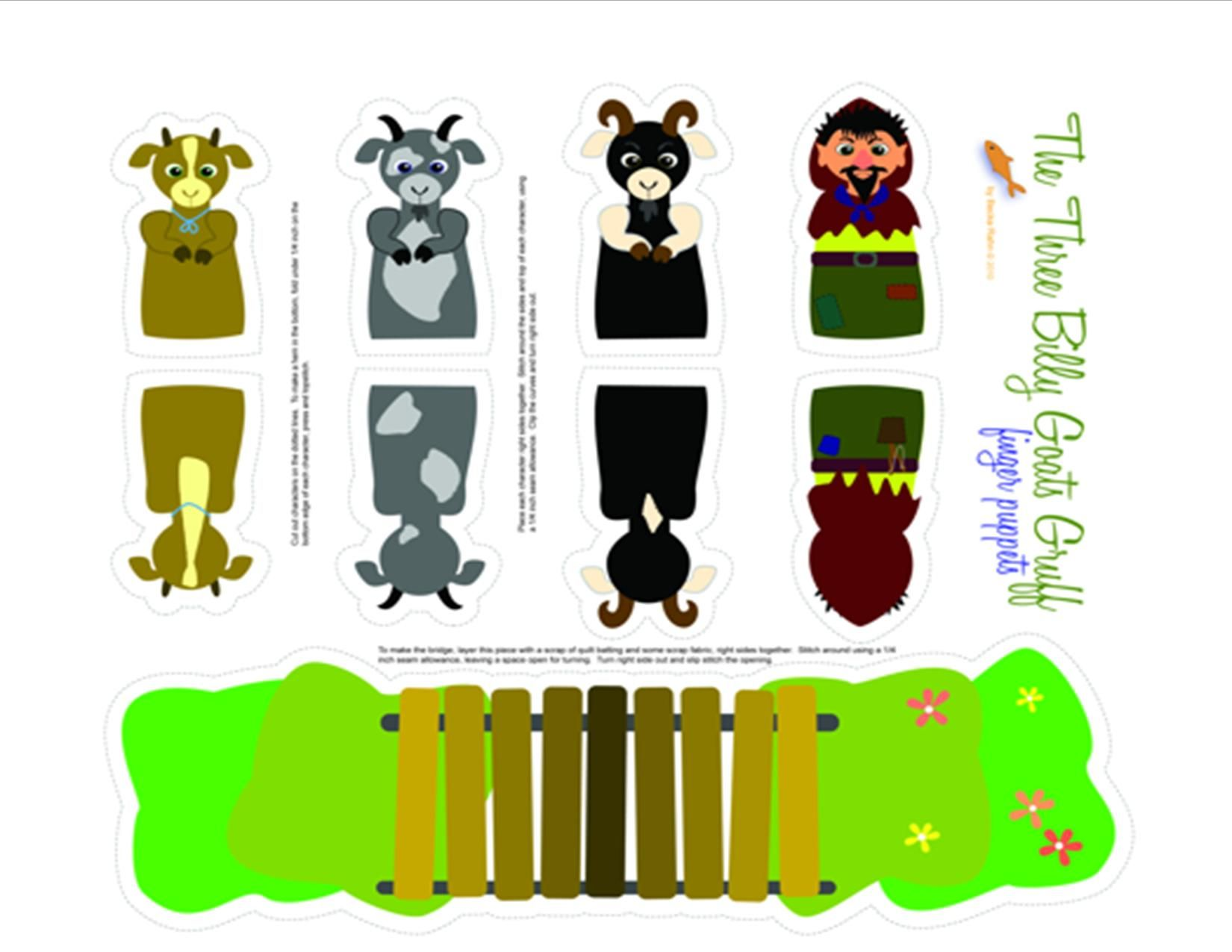 worksheet 3 Billy Goats Gruff Sequencing Worksheet three billy goats gruff printable puppets pre k pinterest puppets