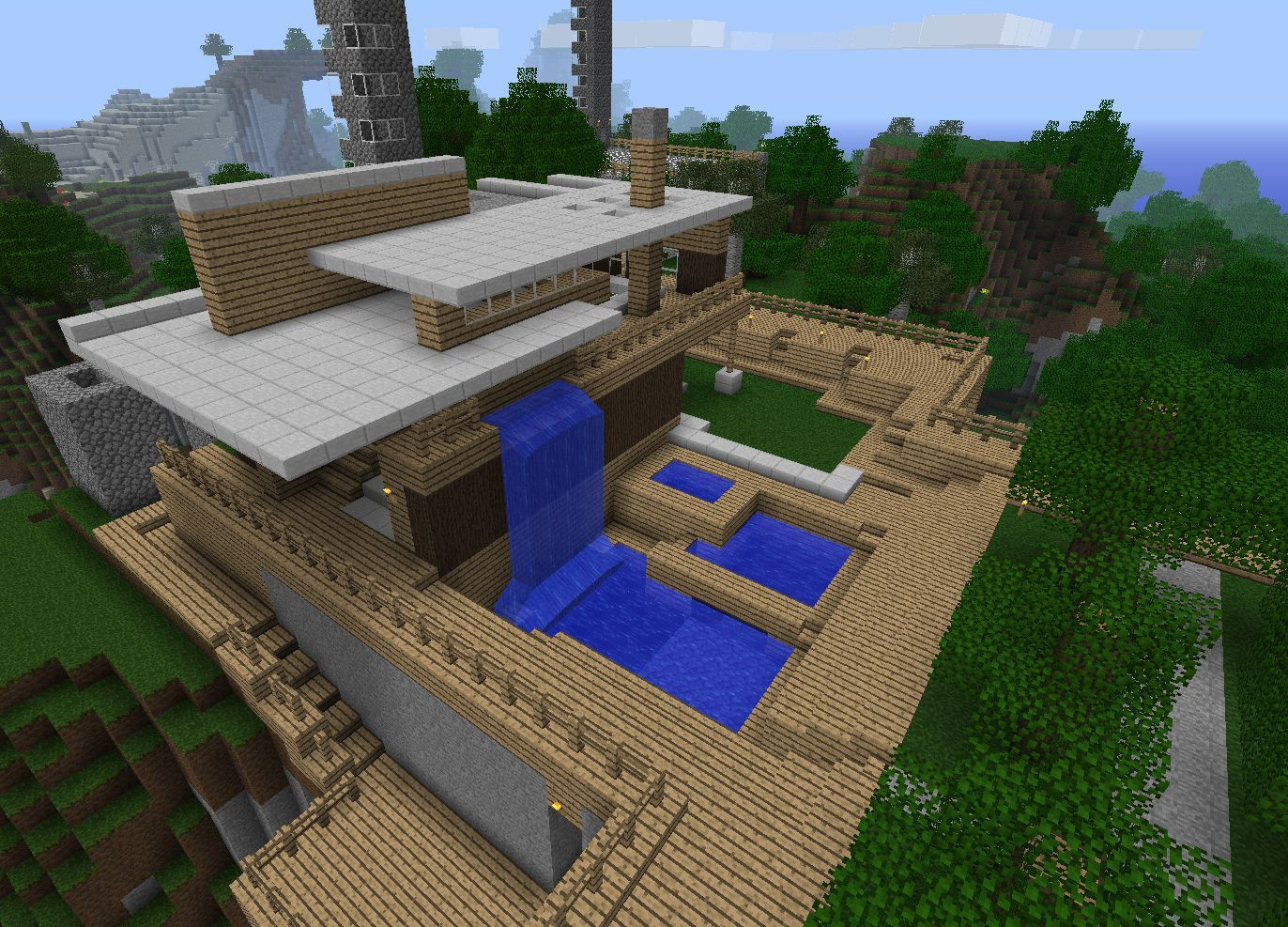 Simple minecraft house designs step by step