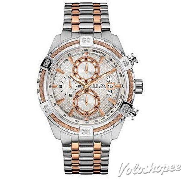9689509f6 Guess W0522G4 Dual Tone Chronograph Watch for Men #menwatch #wristwatches  #guesswatch #brandedwatches #luxurywatches