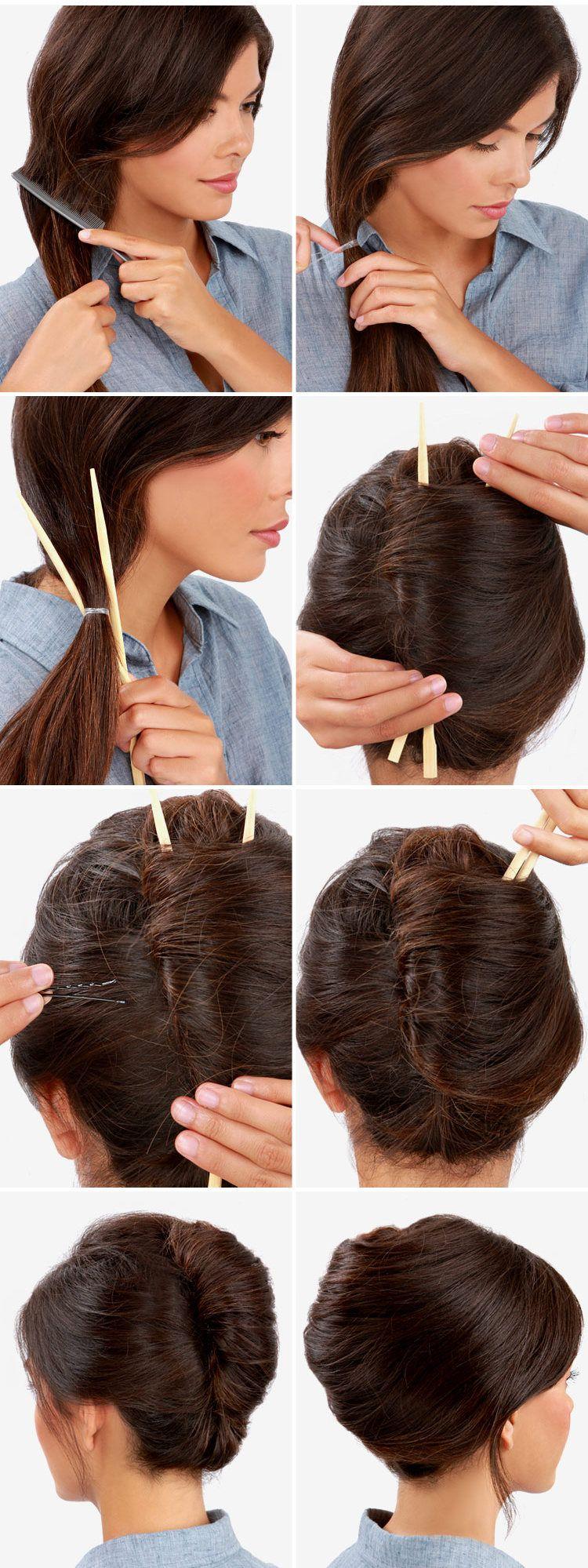 Pinterest Hairstyles Tutorials Buscar Con Google Hair Styles Long Hair Styles French Twist Hair