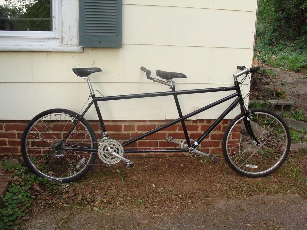 Vintage Burley Samba Tandem Bike Black Double Seater Bike Tandem