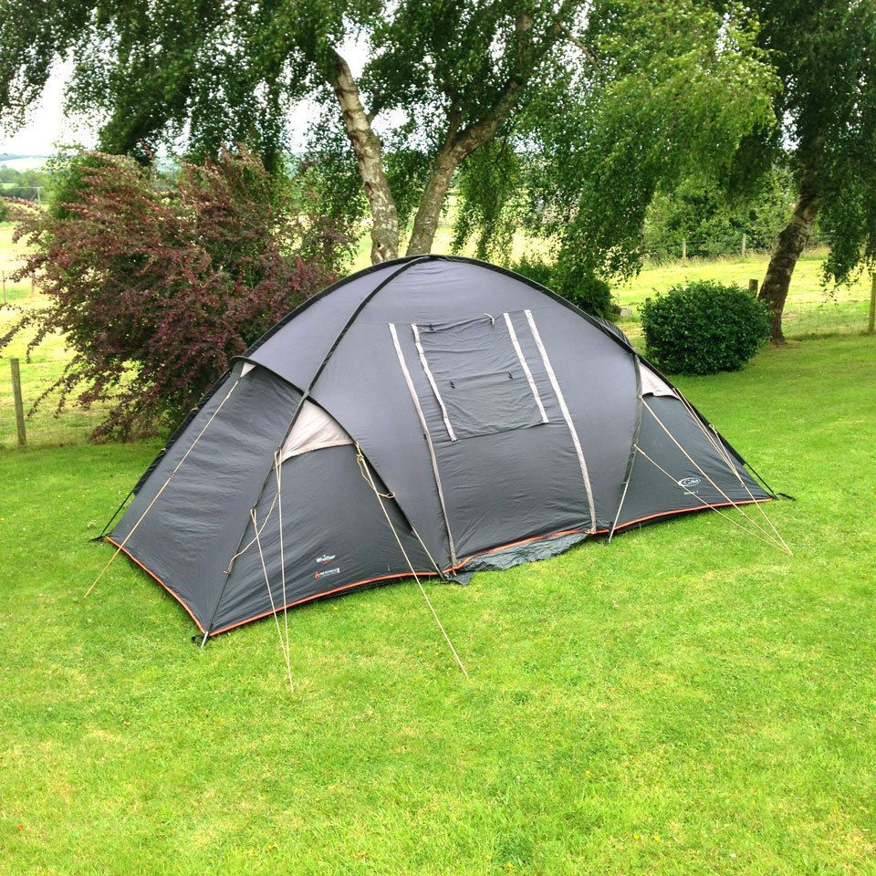 Gelert Monsoon 4 Man Dome Tent with 2 Bedrooms u0026 Living Area (Family C&ing) & Gelert Monsoon 4 Man Dome Tent with 2 Bedrooms u0026 Living Area ...