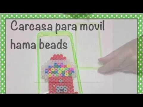 Carcasa para movil de hama beads /phone case - YouTube