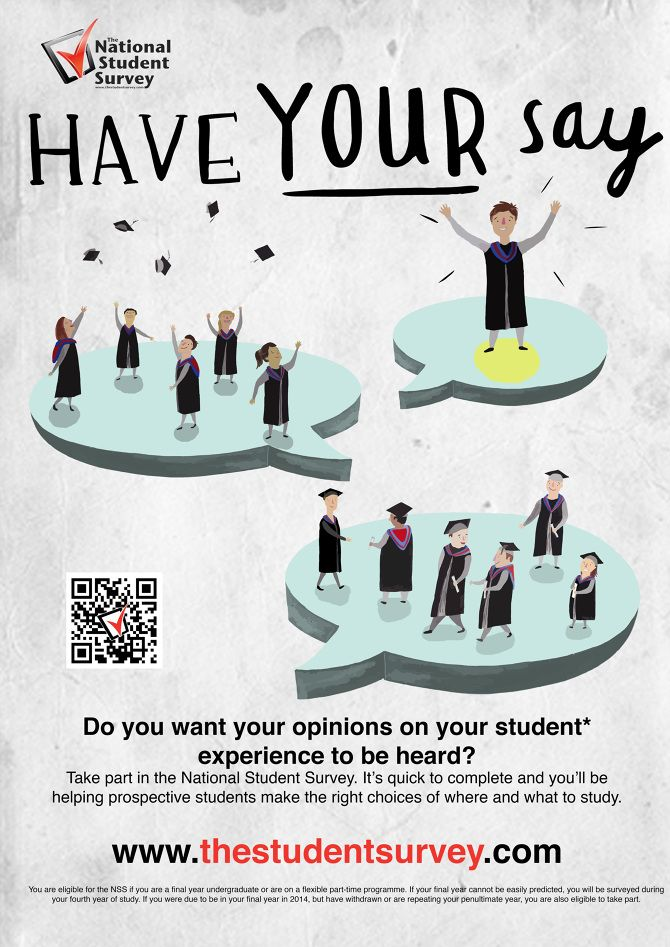 NSS Poster design - Sophie Irving Illustration 15055P NSSE - student survey