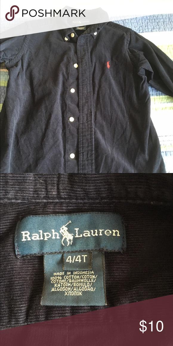 d34243be8 Ralph Lauren Shirt Navy blue corduroy boys button down shirt. Polo by Ralph  Lauren Shirts   Tops Button Down Shirts
