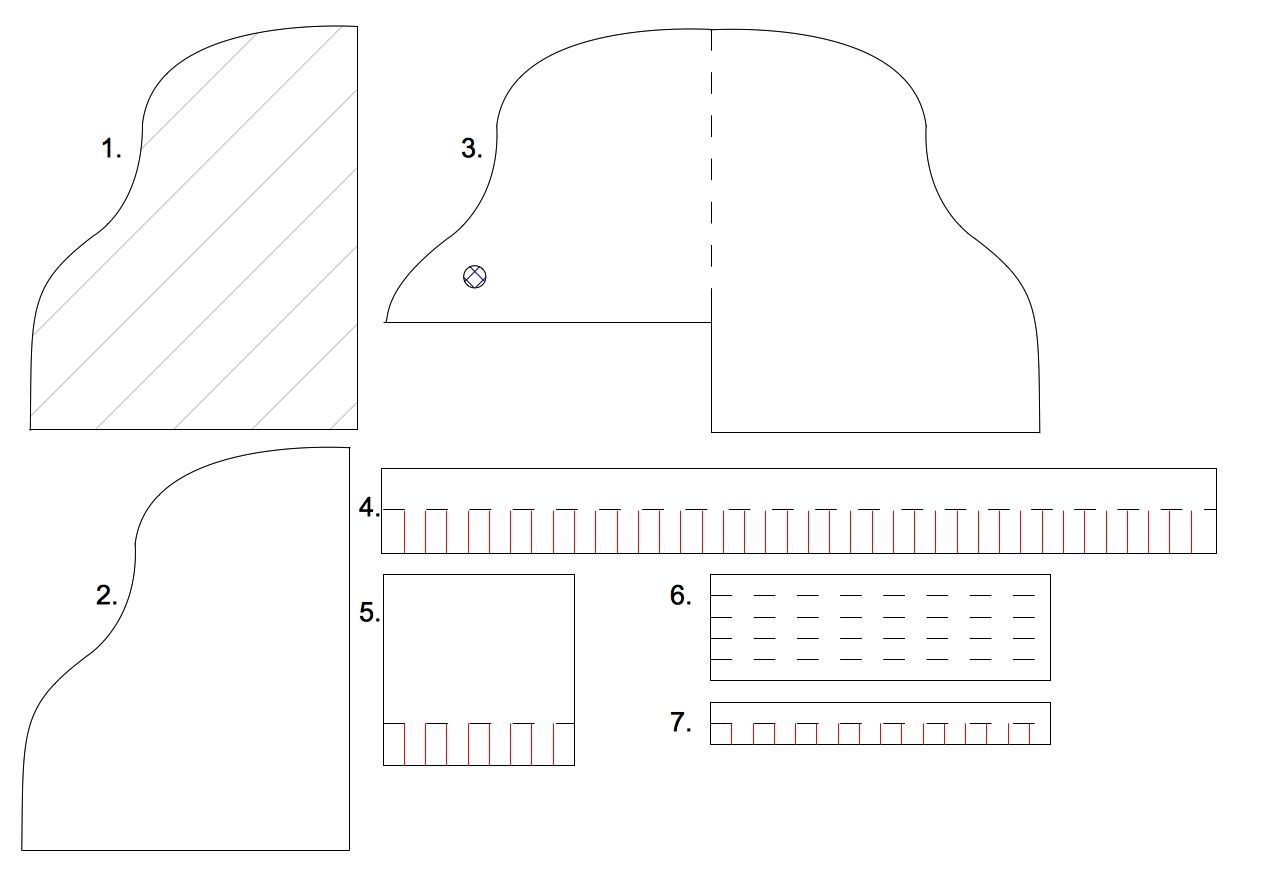 A perfect waste of time: Template for a piano card | Projects to try ...