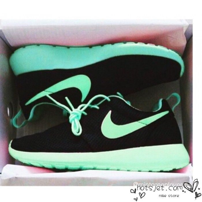 Http Www Hotsjet Com Nike Roshe Run Mens Womens Blue Teal Black