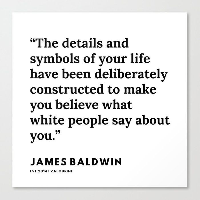64     |James Baldwin Quotes |  200626 | Black Writers | Motivation Quotes For Life Canvas Print by Quotes And Sayings