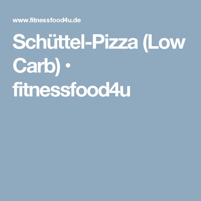 Schüttel-Pizza (Low Carb) • fitnessfood4u