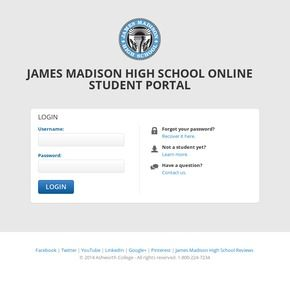 James Madison Online High School Login >> James Madison High School Students Login To The Student Portal To