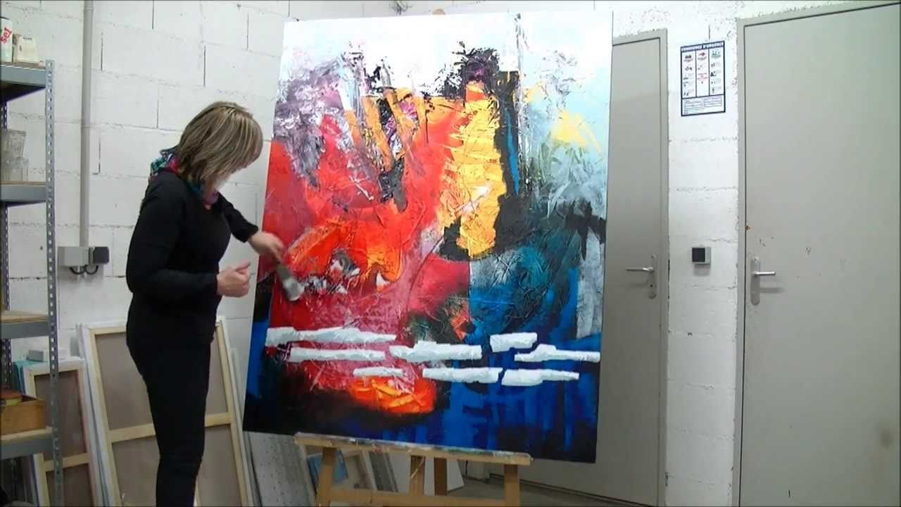 Demonstration De Peinture Abstraite Par Jadis 5 Abstrakte