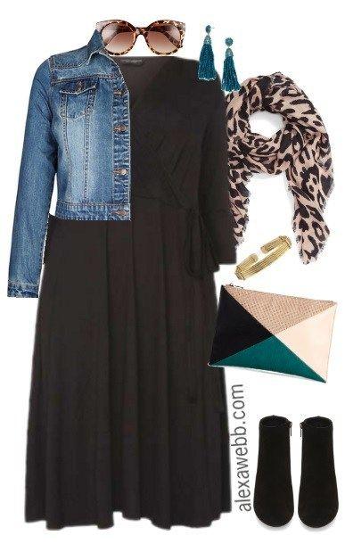 Plus Size Black Wrap Dress Outfits – Alexa Webb