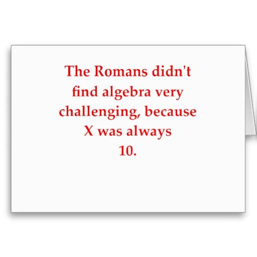 funny math joke greeting cards