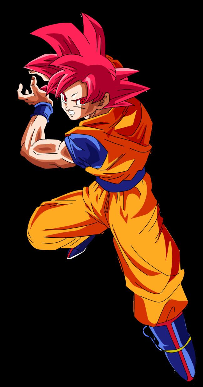Resultado De Imagen Para Goku Ssj Dios Kamehameha Personajes De Goku Goku Fase Dios Rojo Goku
