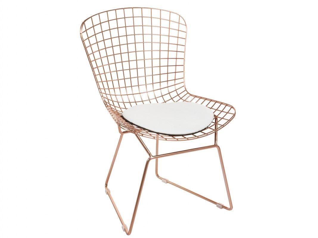 silla rejilla metal blanco