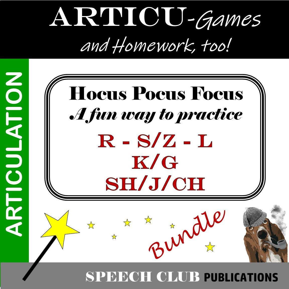 Hocus Pocus Focus Is A Series Of Articulation Card Games