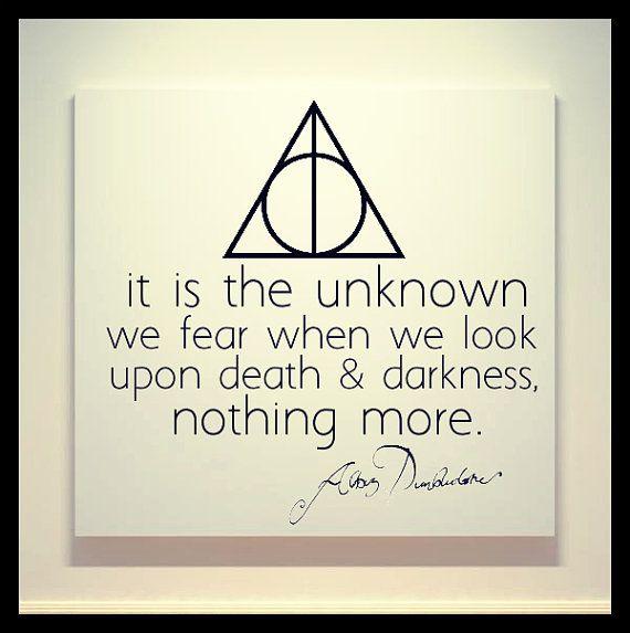 harry potter deathly hallows albus dumbledore quote x