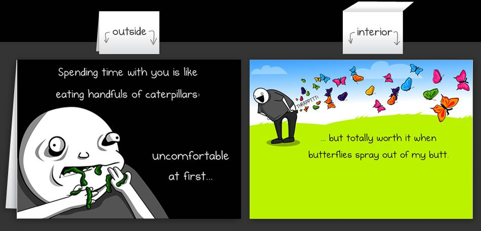 Horrible Cards Greeting Cards By The Oatmeal Funny Cards Job Hunting Quotes Bones Funny