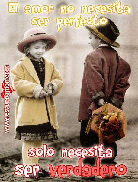 Imagen De Pareja De Ninos Enamorados Con Frase De Amor Para Facebook