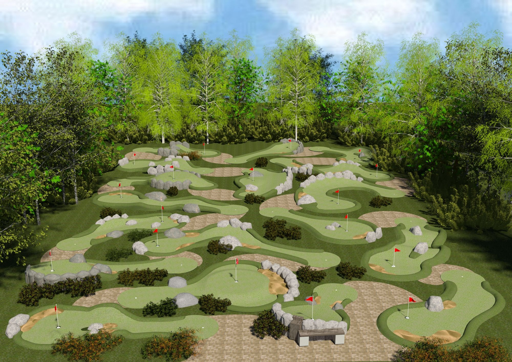 drawings of mini golf courses for permits google search mini