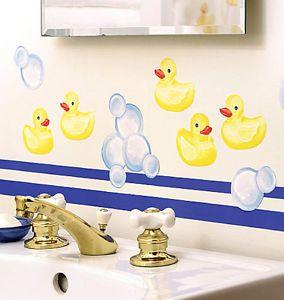 Rubber Duck Decals Ducks Wall Stickers Decals Art 25 Wallies Yellow Rubber Ducks Bubble Bathroom Decor Bathroom Kids