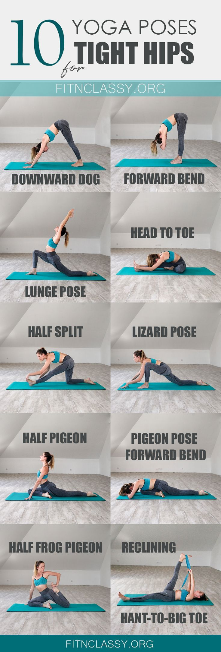 10 Yoga Poses For Tight Hips & Hamstrings – Fit & Classy