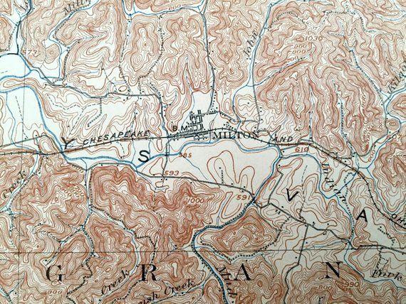 Antique Milton, West Virginia 1902 US Geological Survey
