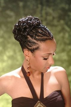 Pinterest African Braided Hairstyles African American French Braid Updo Hairstyles 002 Braided Hairstyles Updo Natural Hair Styles High Bun Hairstyles